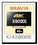BRAVIA 4K 液晶テレビ「KJ-43X8000E」