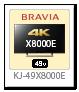 BRAVIA 4K 液晶テレビ「KJ-49X8000E」