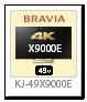 BRAVIA 4K 液晶テレビ「KJ-49X9000E」