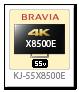 BRAVIA 4K 液晶テレビ「KJ-55X8500E」