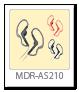 ステレオヘッドホン「MDR-AS210」