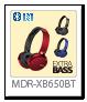 ワイヤレスステレオヘッドセット「MDR-XB650BT」