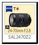 Aマウント 24-70mm F2.8 「SAL2470Z2」