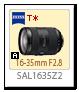 Aマウント 16-35mm F2.8 「SAL1635Z2」