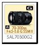 Aマウント70-300mm F4.5-5.6 G SSM II 「SAL70300G2」