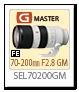FE 70-200mm F2.8 GM 「SEL70200GM」